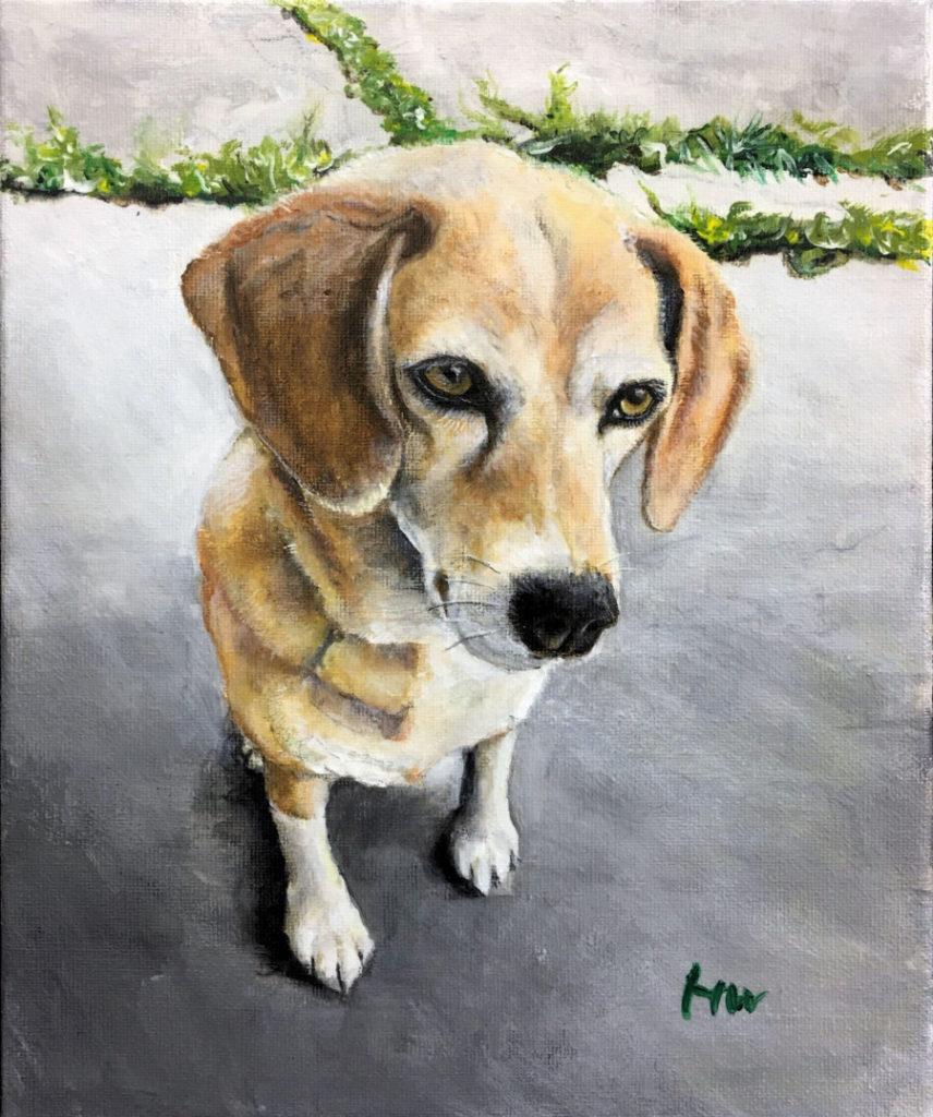 ビーグル犬の絵