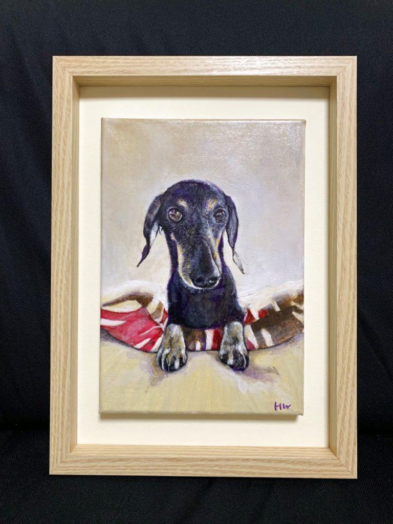 愛犬ん肖像画